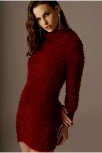 Vestido-Angora-Bordo