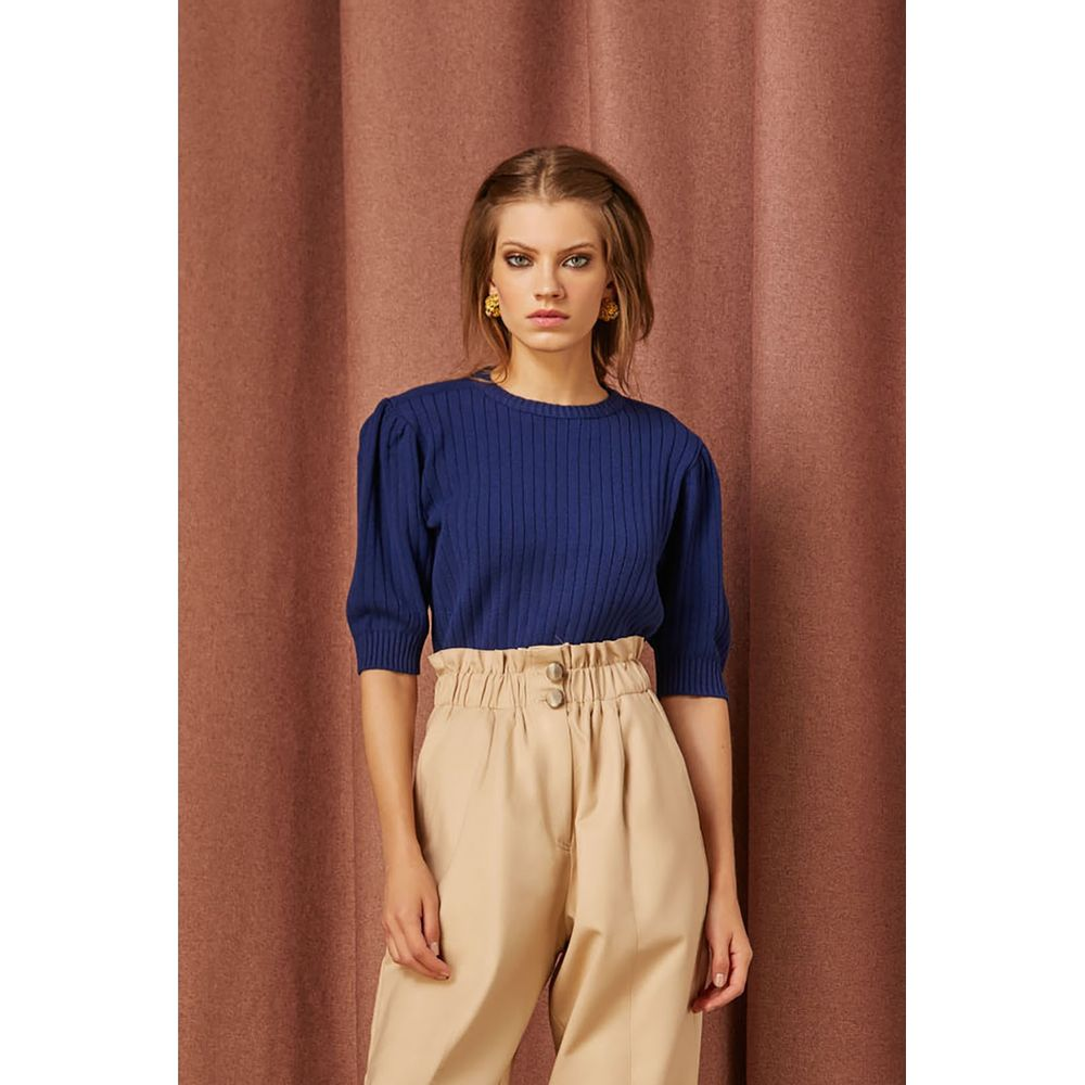 Cropped-Tricot-Azul