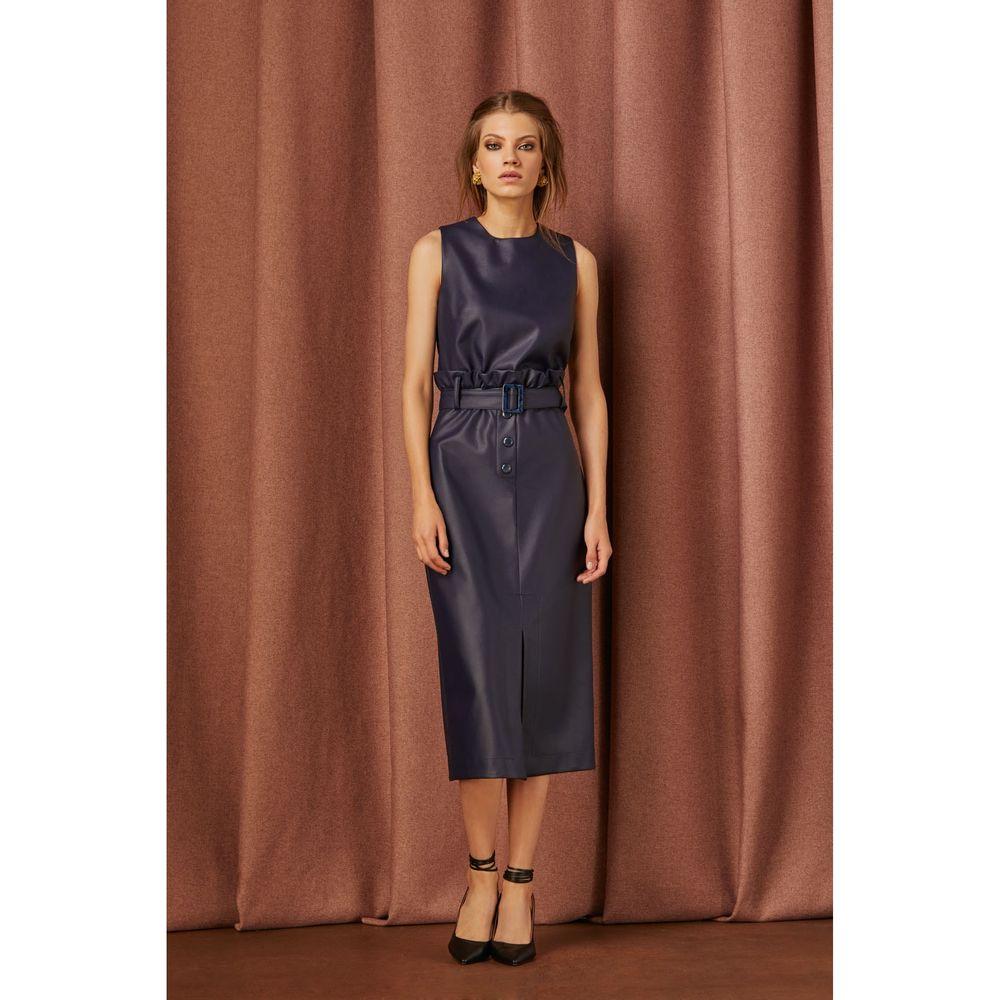 Vestido-Midi-Clochard-Azul