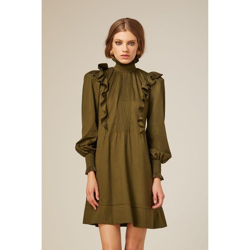 Vestido-Gola-Lastex-Verde
