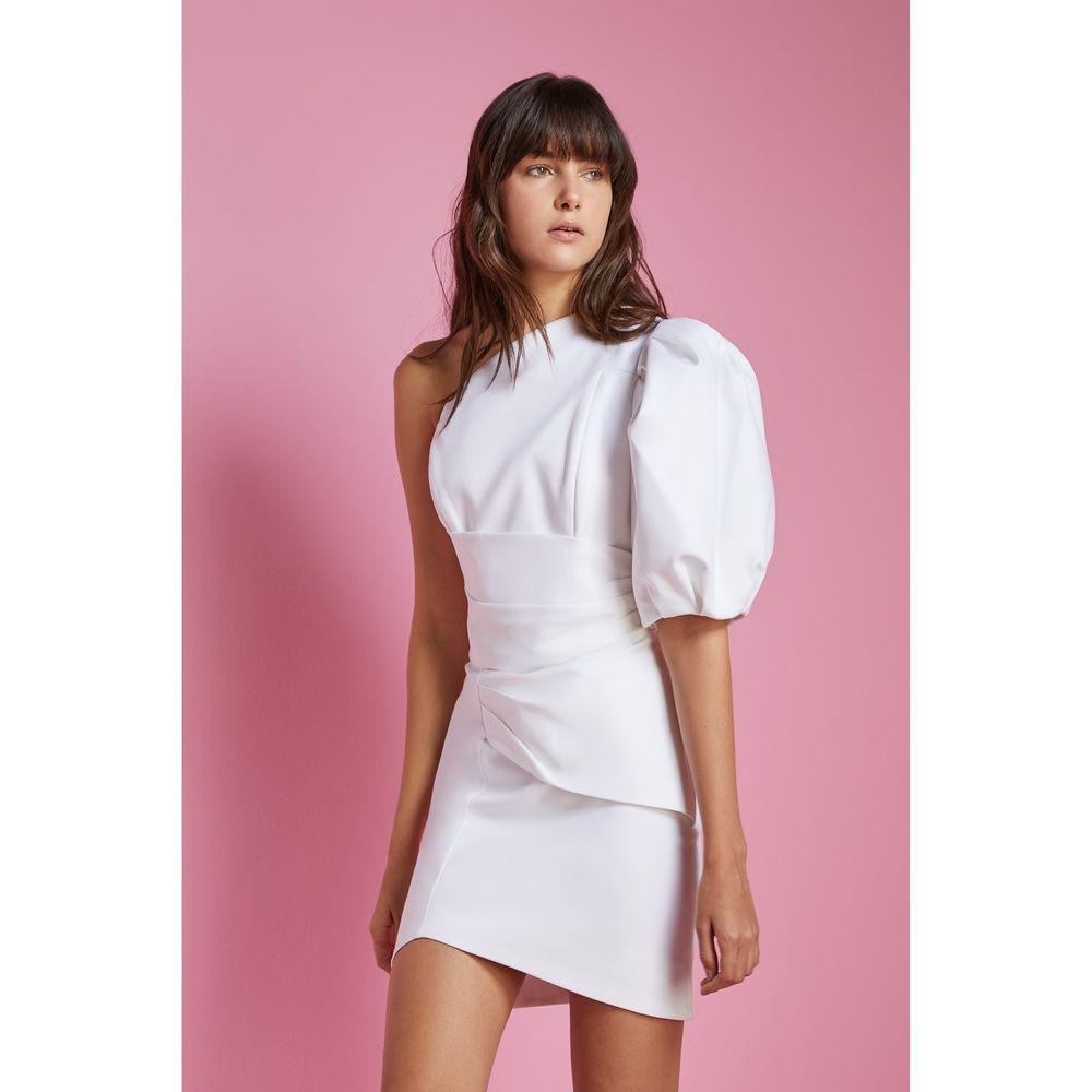 Vestido-Ombro-Puff-Branco