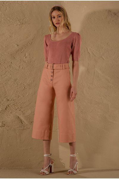 Calca-Pantacourt-Cotton-Vintage