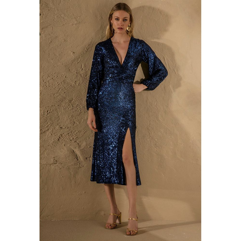 Vestido-Midi-Paete-Azul