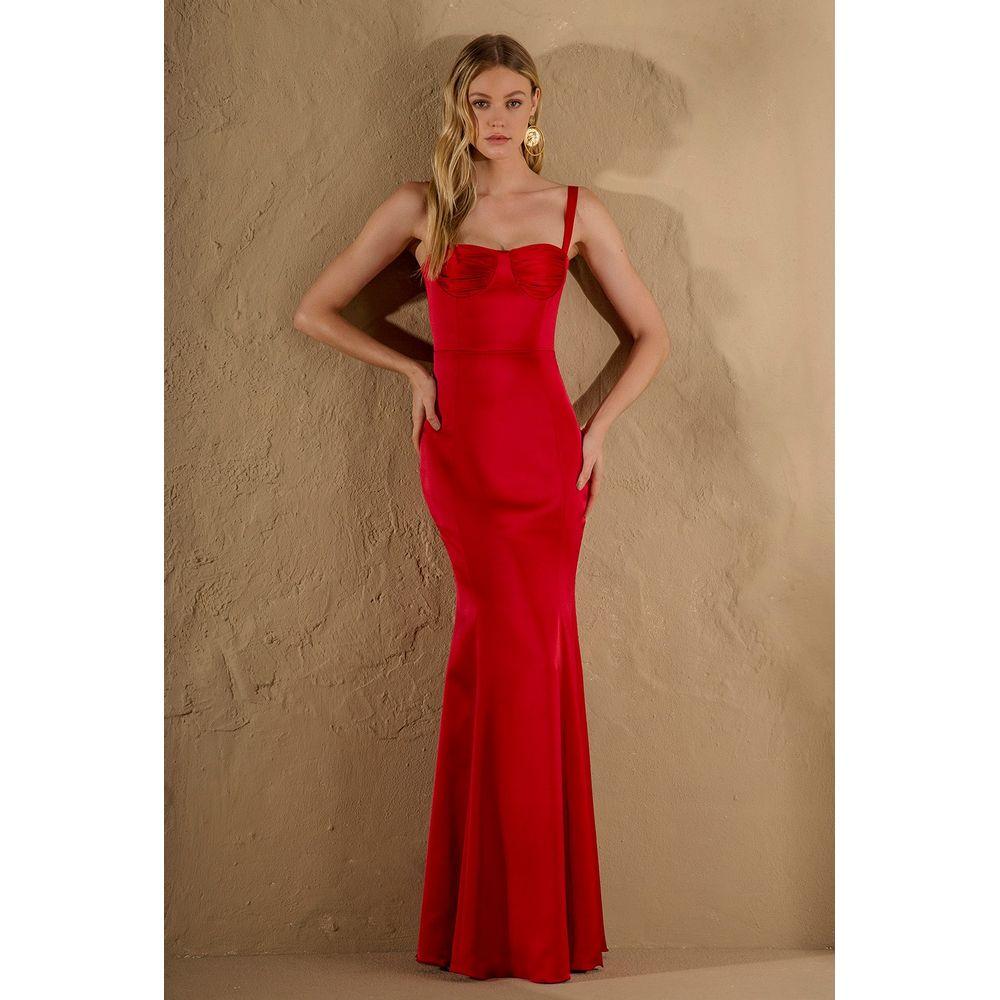 Vestido-Longo-Cetim-Vermelho