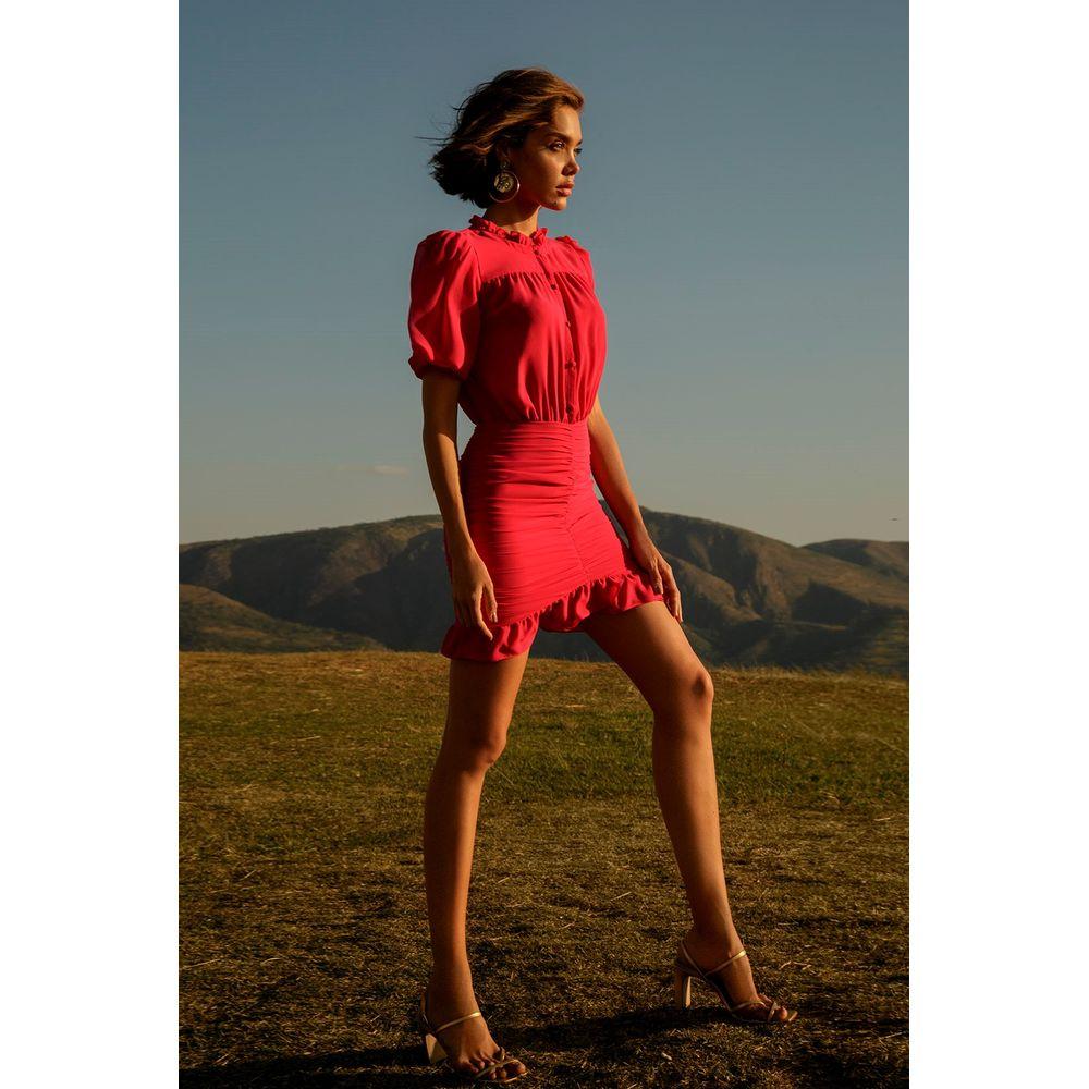 Vestido-Curto-Franzido-Pink
