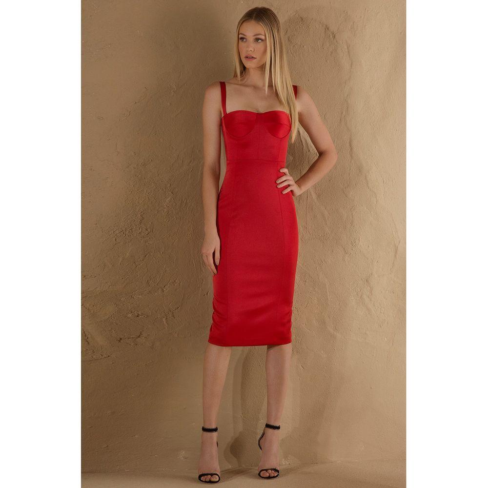 Vestido-Midi-Cetim-Vermelho