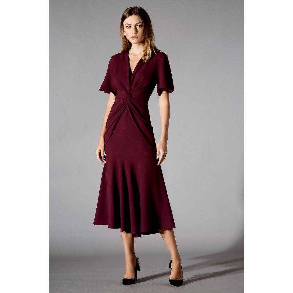 Vestido-Midi-Crepe-Bordo