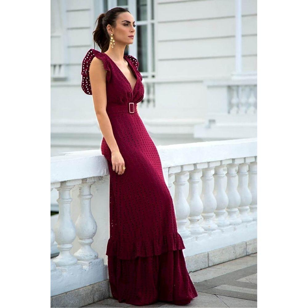 Vestido-Longo-Laise-Bordo