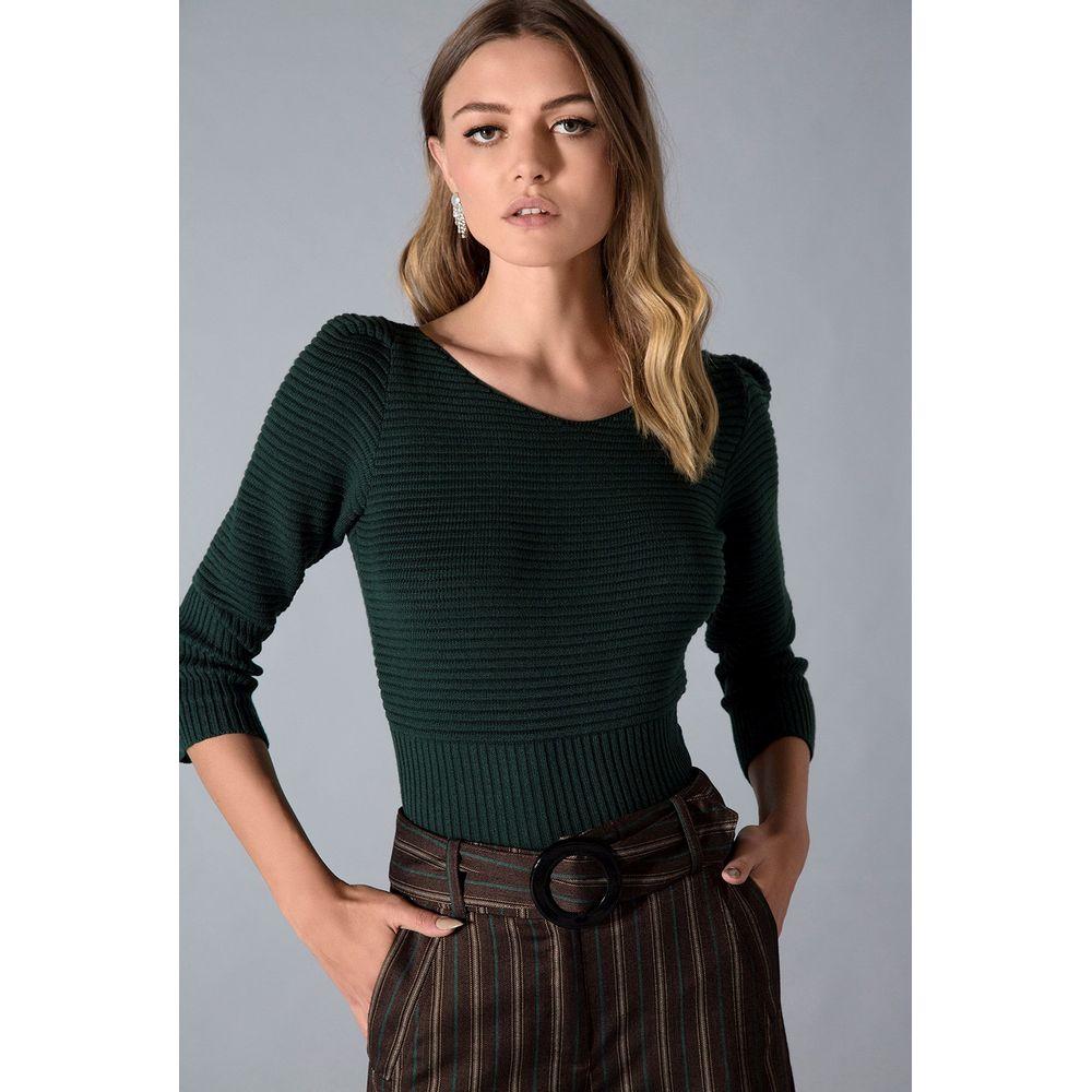 Blusa-Tricot-Puff-Verde