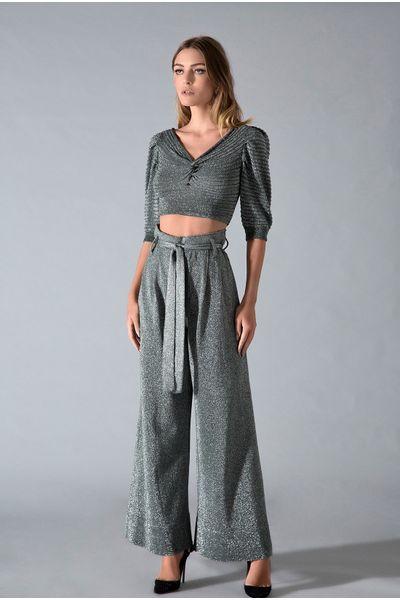 Calca-Pantalona-Lurex-Silver
