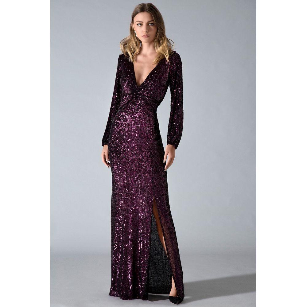 Vestido-Longo-Paete-Violet