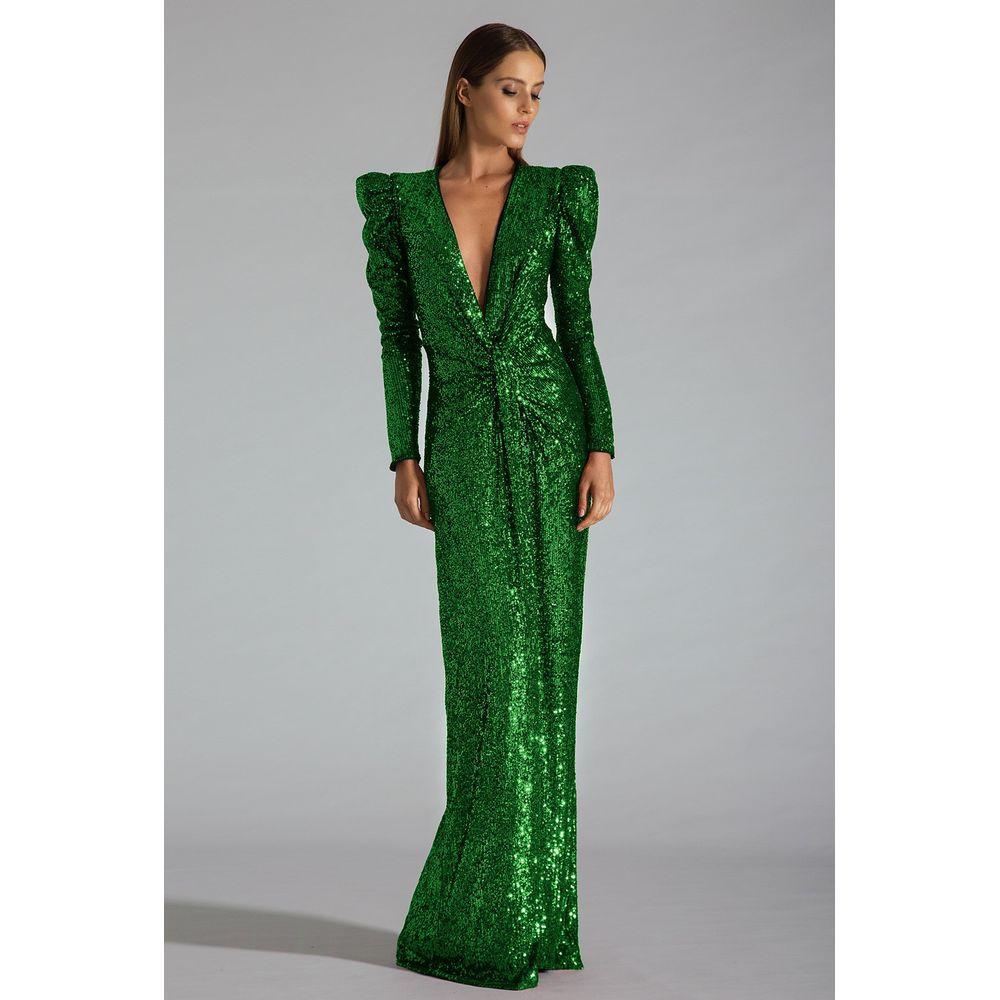 Vestido-Longo-Paete-Verde