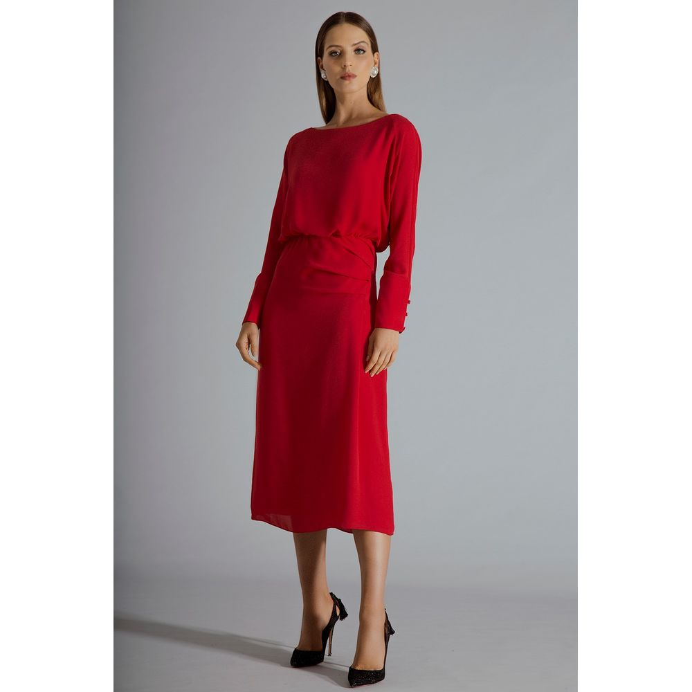 Vestido-Midi-Vermelho