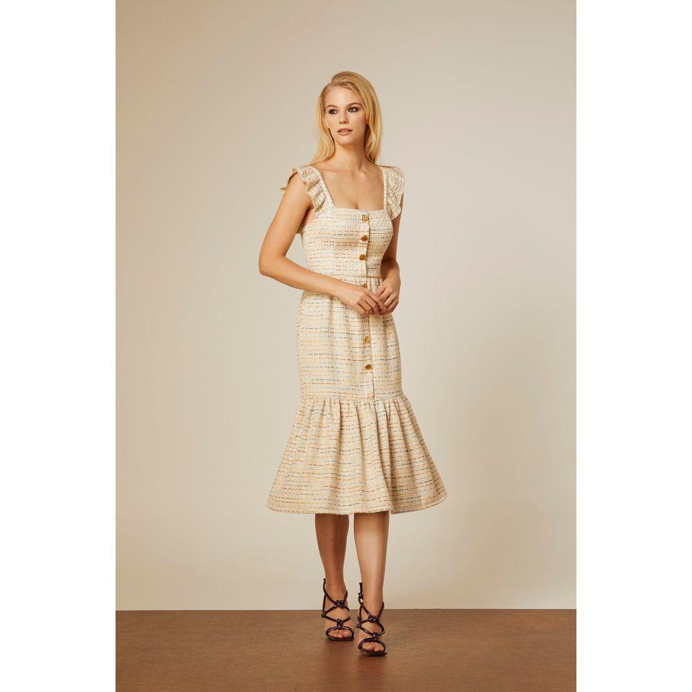Vestido-Midi-Tweed-Cores