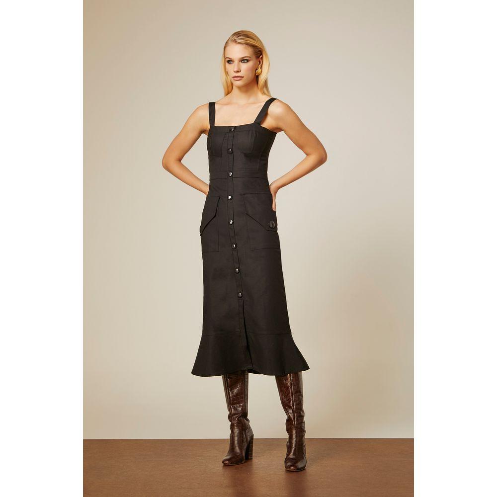 Vestido-Midi-Cotton-Preto