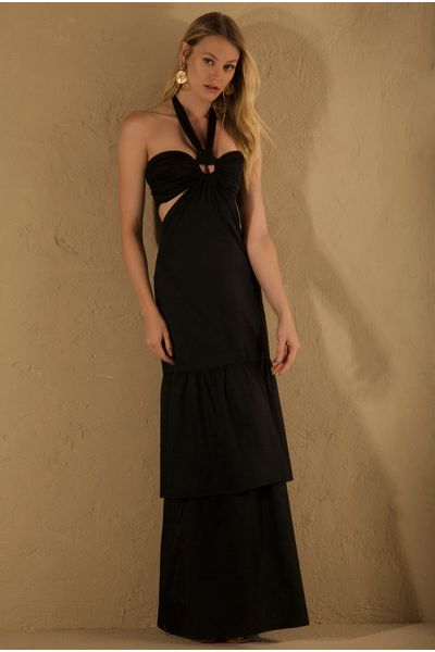 Vestido-Longo-Argola-Preto