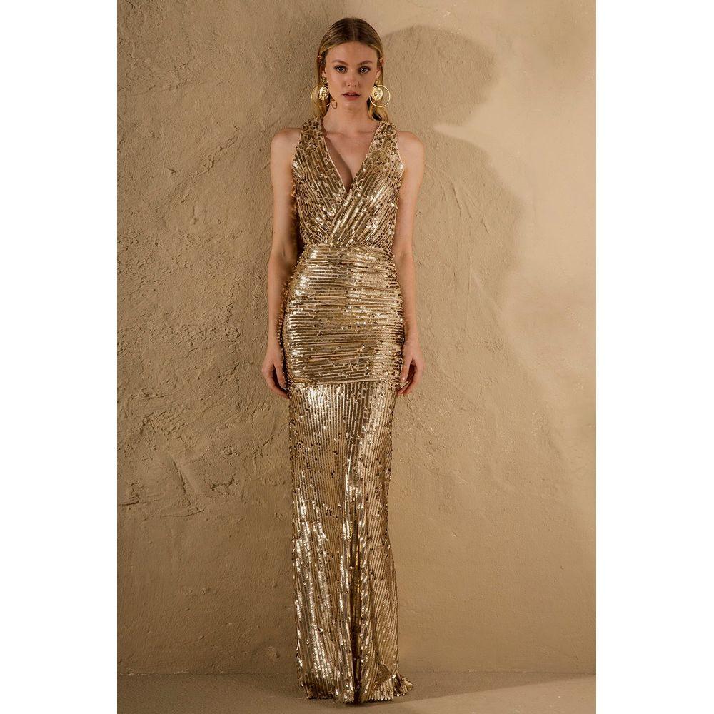 Vestido-Drapeado-Paete-Gold
