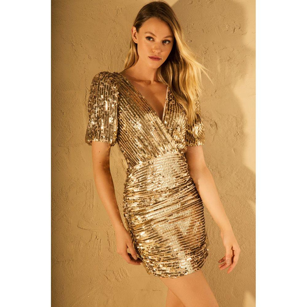 Vestido-Curto-Paete-Gold