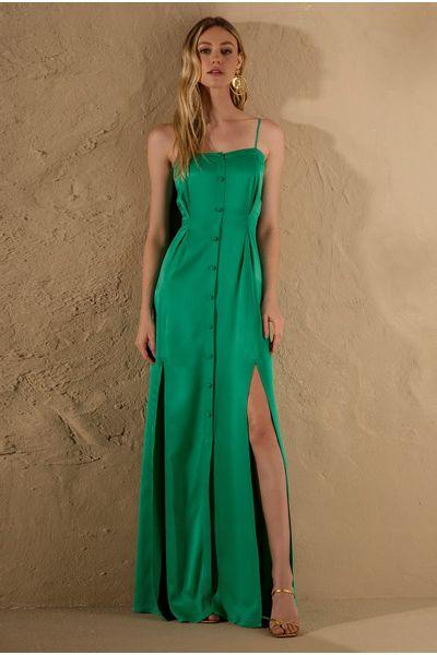 Vestido-Longo-Fenda-Verde