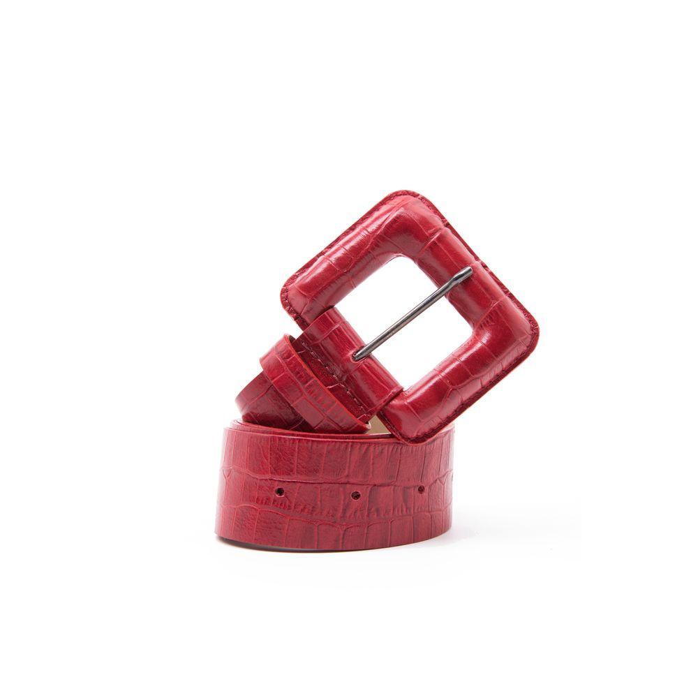 Cinto-Fivela-Croco-Vermelho