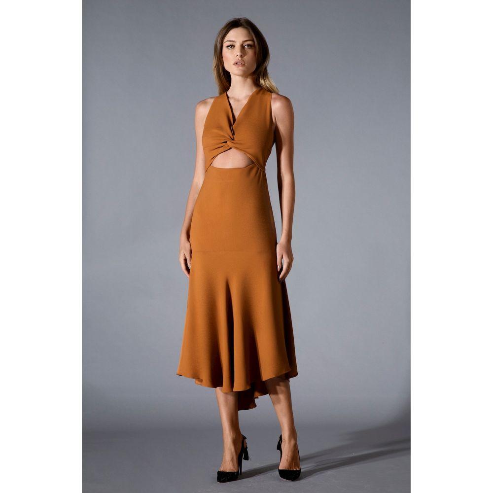 Vestido-Midi-Recorte-Cognac