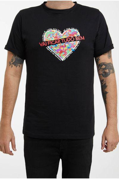T-Shirt-Masculina-Preta-Vai-Ficar-Tudo-Bem