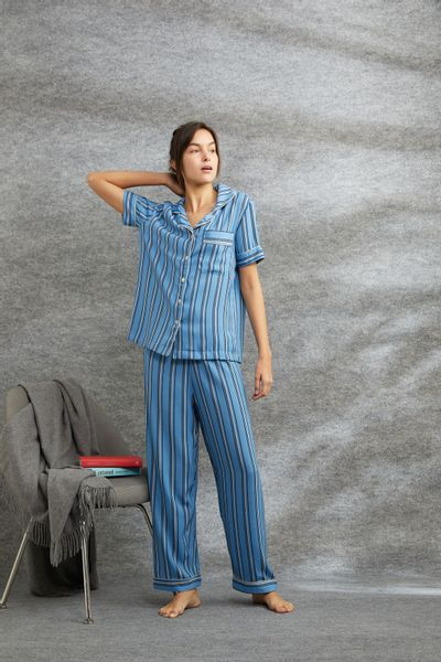 Conjunto-Pijama-Listras-Azul