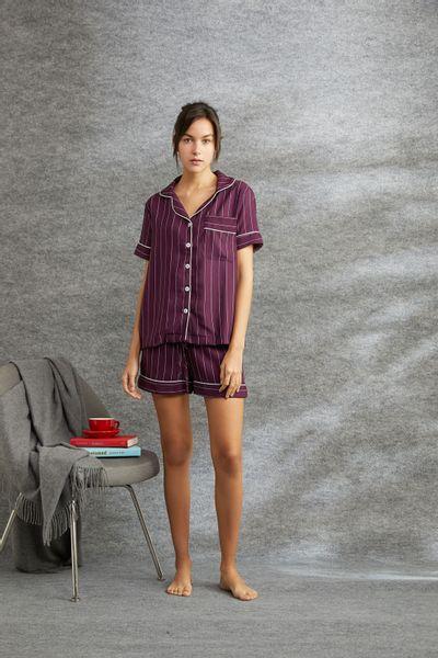 Conjunto-Pijama-Curto-Bordo