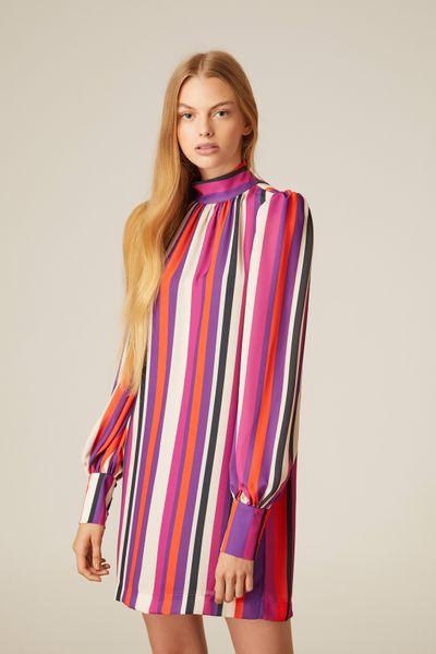 Vestido-Curto-Listrado-Color