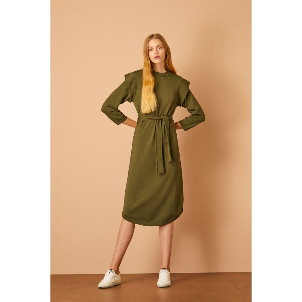 Vestido-Midi-Tricot-Verde