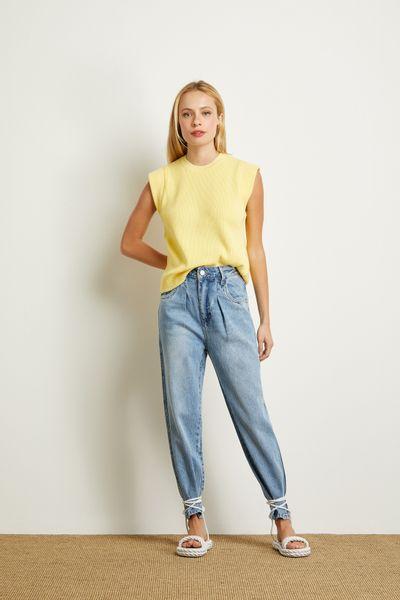 Blusa-Tricot-Canelado-Amarelo