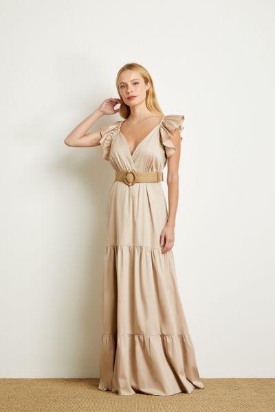 Vestido-Longo-Decote-Areia