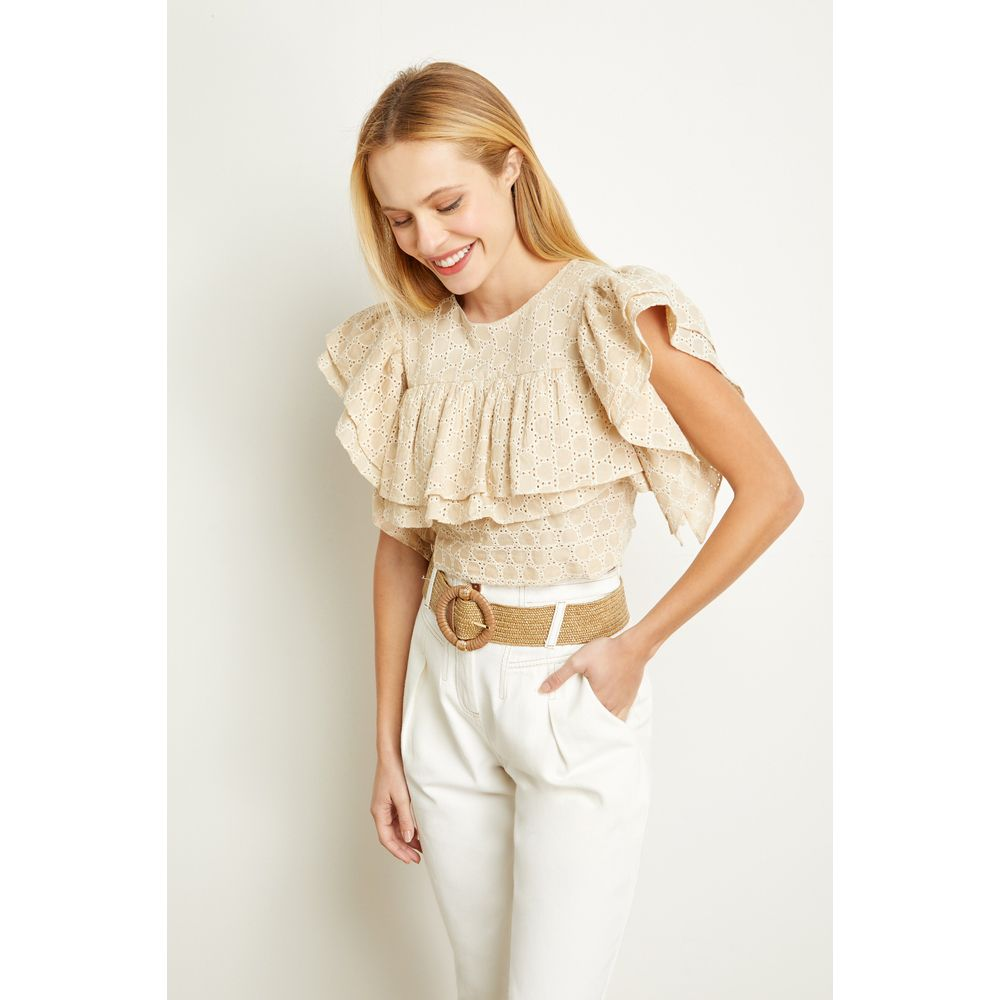 Cropped-Laise-Babados-Bege