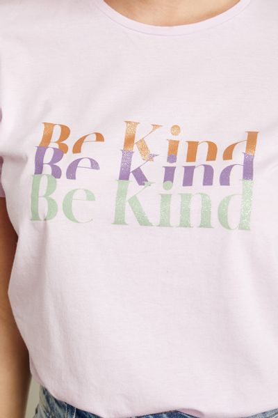 T-Shirt-Be-Kind-Lilas