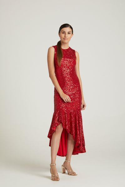Vestido-Midi-Paete-Vermelho