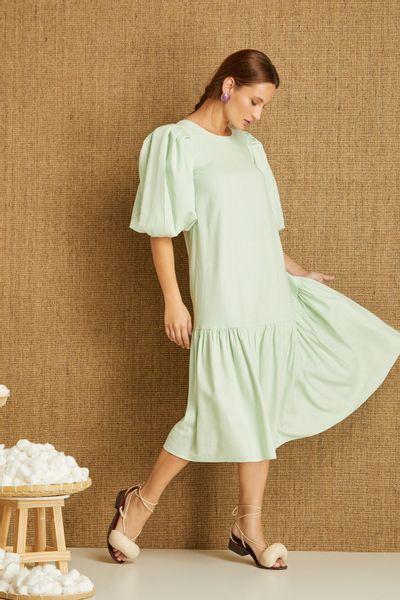 Vestido-Midi-Verde