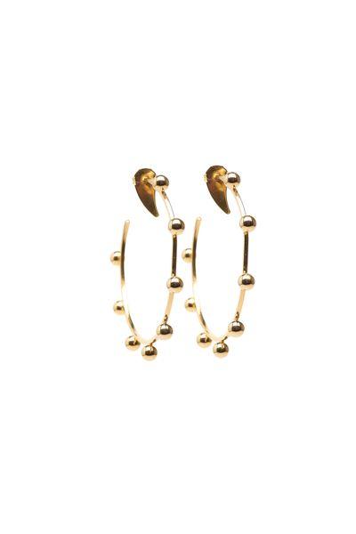 Argola-Bolinhas-Douradas