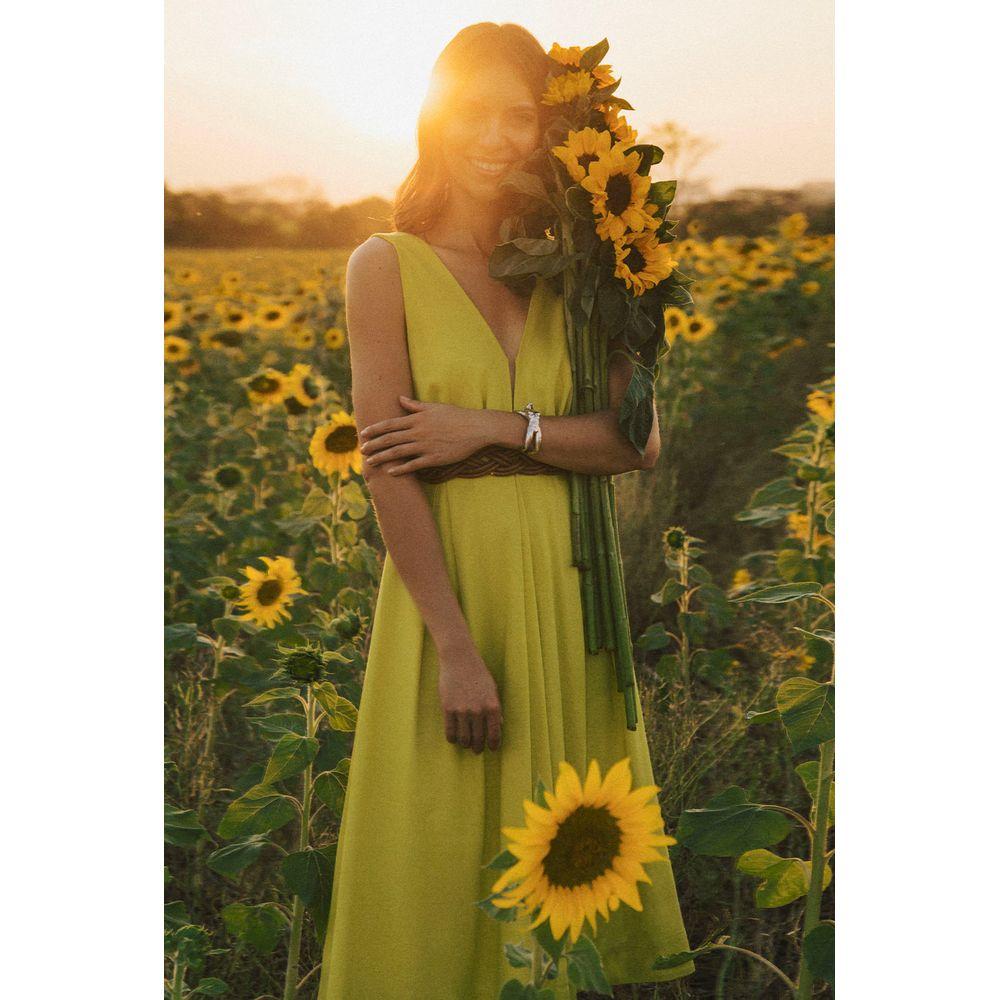 Vestido-Midi-Linho-Verde