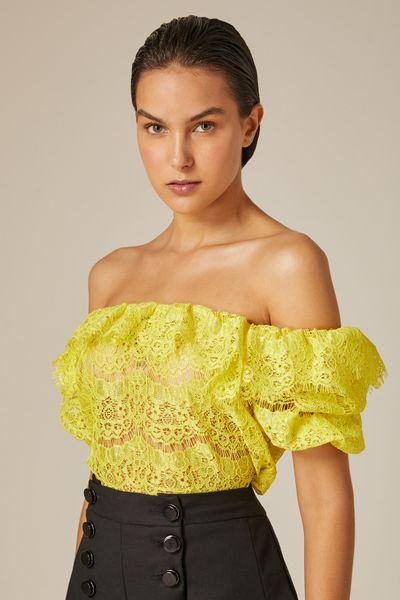 Blusa-Renda-Puff-Amarela