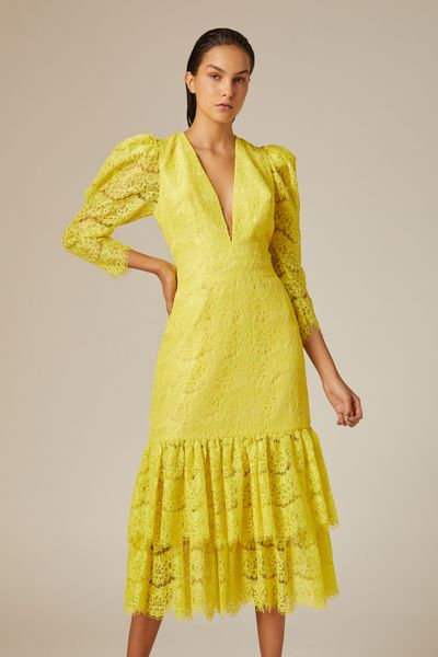 Vestido-Midi-Renda-Amarelo