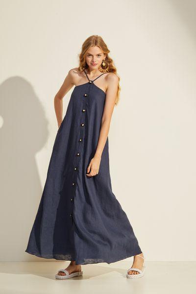 Vestido-Longo-Linho-Maritmo