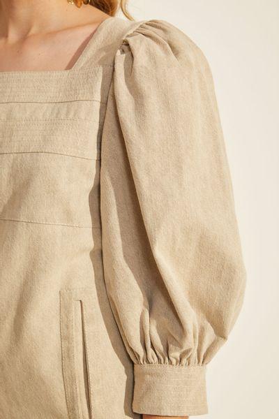 Vestido-Curto-Jeans-Bege