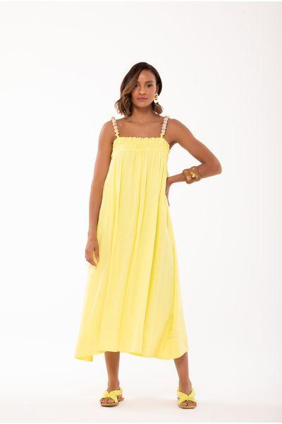 Vestido-Midi-Alca-Amarelo