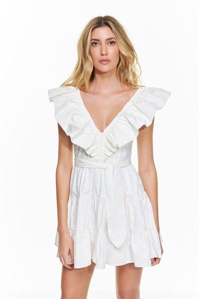 Vestido-Curto-Tricoline-Babados
