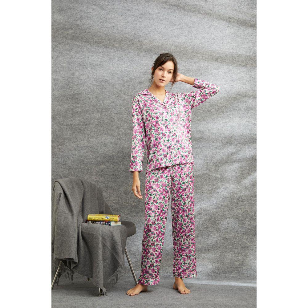 Pijama-Floral-Rosa