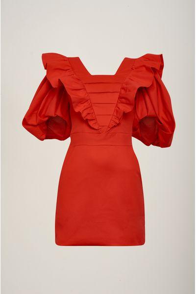 Vestido-Curto-Vintage-Vermelho
