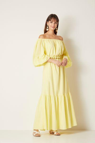 Vestido-Longo-Amarelo