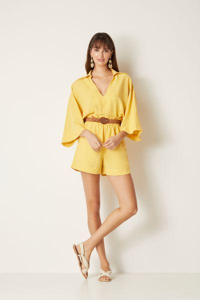 Short-Linho-Amarelo