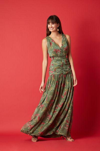 Vestido-Longo-Floral-Oliva-