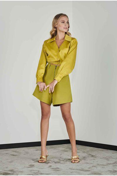 Camisa-Cropped-Tricoline-Citronela